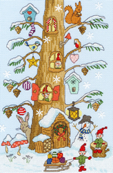 Cross stitch kit Christmas - Santa's Little Helpers - Bothy Threads