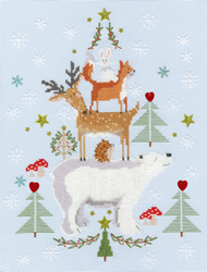 Cross stitch kit Christmas - Snowy Stack - Bothy Threads