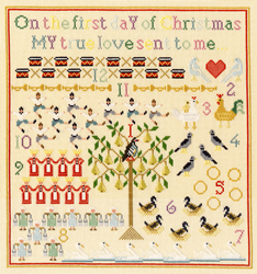 Cross stitch kit Bothy Designs - On The First Day - Bothy Threads