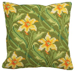 Cushion Cross Stitch Kit Myrte Gauche - Collection d'Art