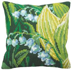 Cushion Cross Stitch Kit Muguet Droite - Collection d'Art