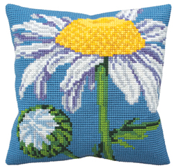 Cushion Cross Stitch Kit Marquerite - Collection d'Art