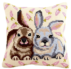 Cushion cross stitch kit Flopsy & Mopsy - Collection d'Art