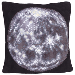 Cushion cross stitch kit Moon - Collection d'Art