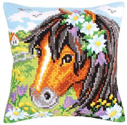 Cushion Cross Stitch Kit Daisy Chain - Collection d'Art