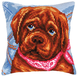 Cushion Cross Stitch Kit Dogs Melancholy - Collection d'Art