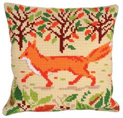 Kussen borduurpakket Red Fox - Collection d'Art