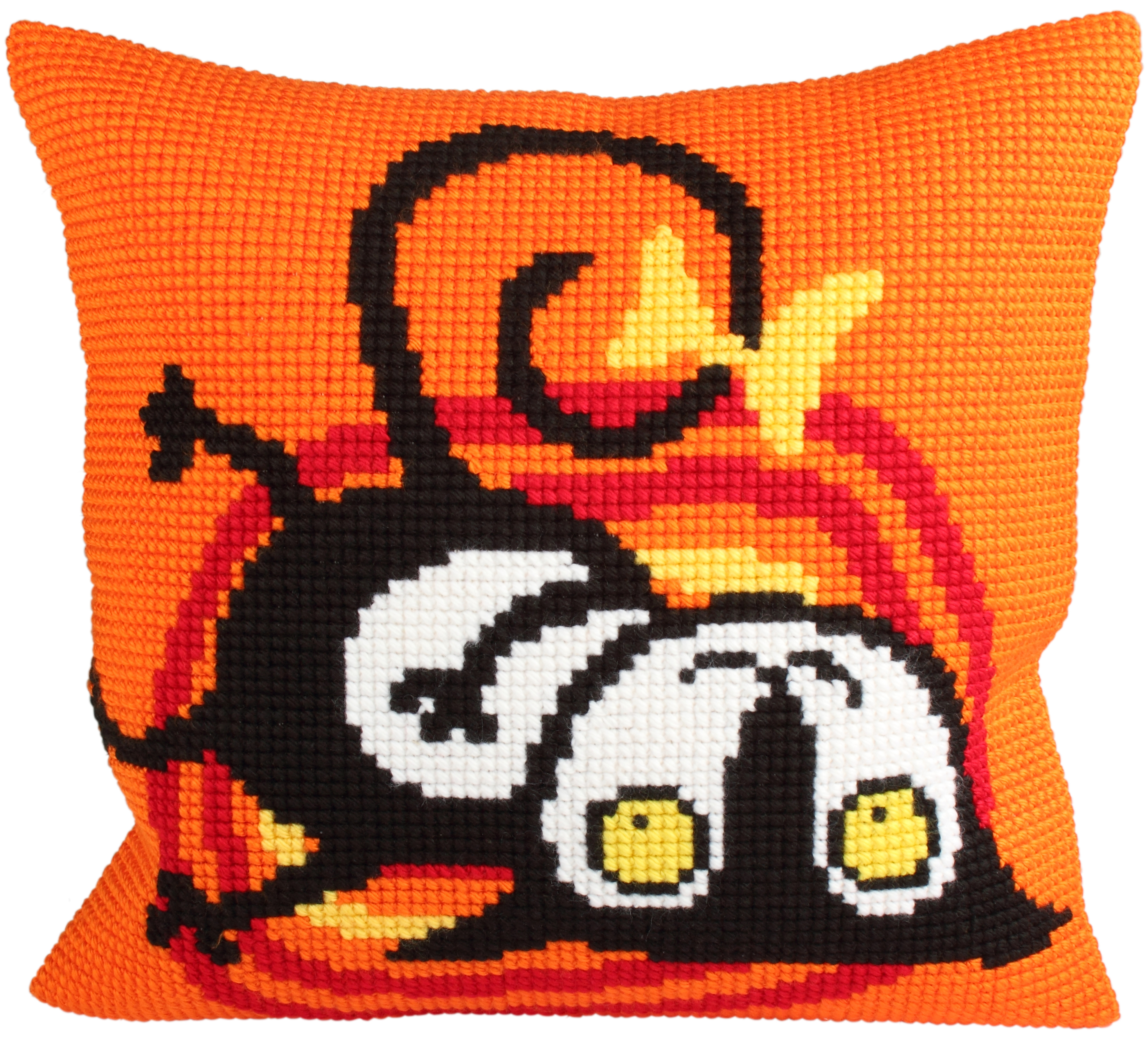 Cushion cross stitch kit Escaped Cat - Collection d'Art
