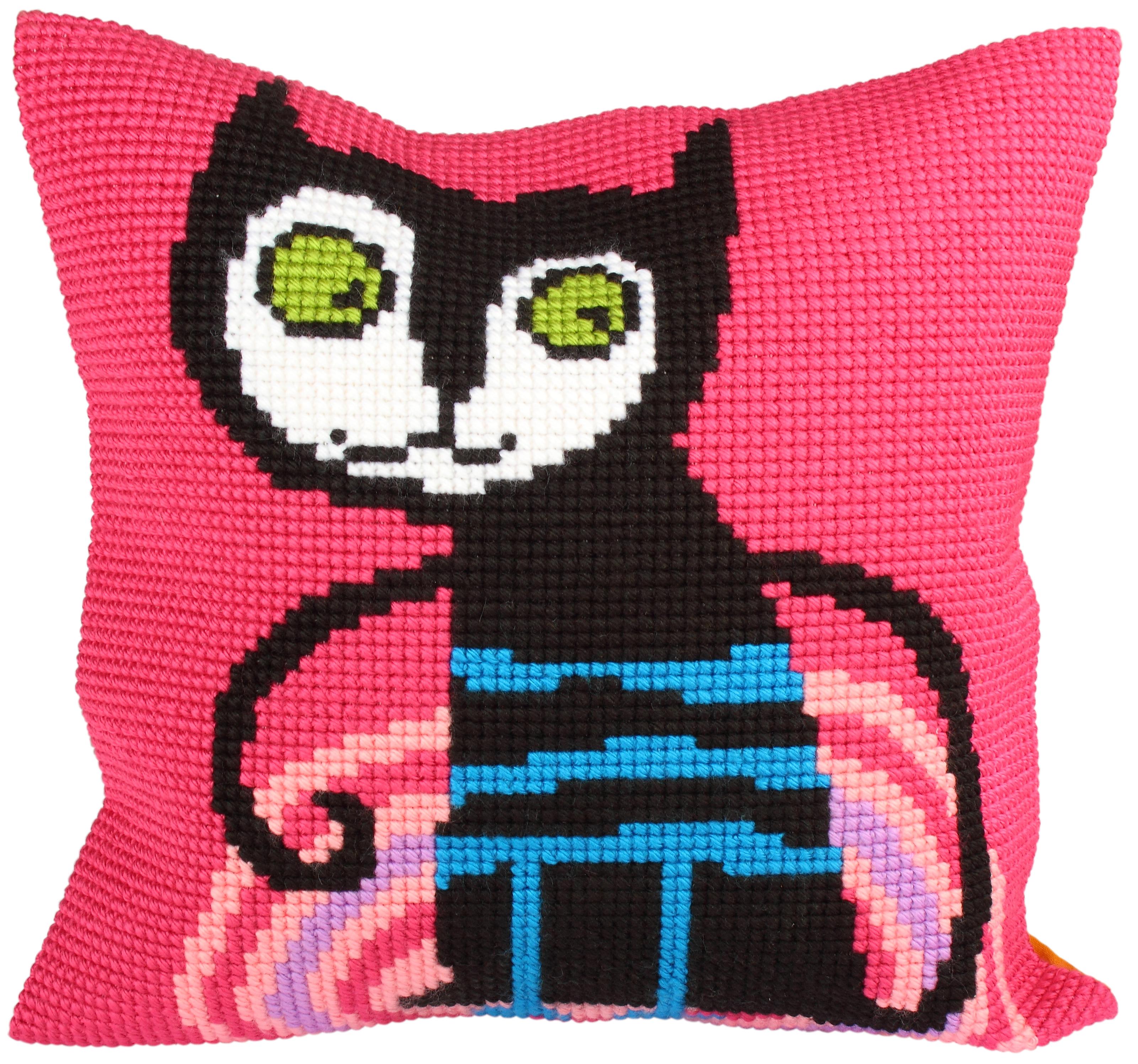 Kussenborduurpakket Escaped Cat - Collection d'Art
