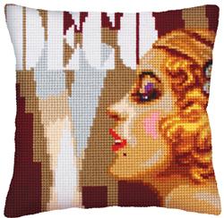Cushion Cross Stitch Kit Art Deco II - Collection d'Art