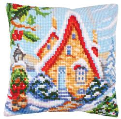 Cushion cross stitch kit Fairy Cottage - Collection d'Art