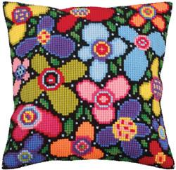Cushion cross stitch kit Flower Glade  - Collection d'Art