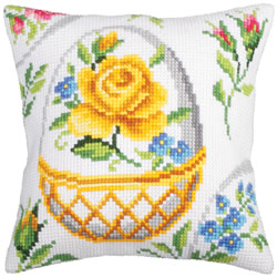 Cushion cross stitch kit Easter Feast I - Collection d'Art