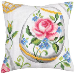 Cushion Cross Stitch Kit Easter Feast II - Collection d'Art