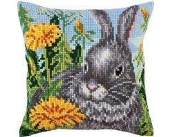 Cushion cross stitch kit Sun dandelions - Collection d'Art
