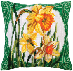Cushion cross stitch kit Narcissus - Collection d'Art
