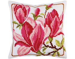 Kussenborduurpakket Magnolia flowers - Collection d'Art