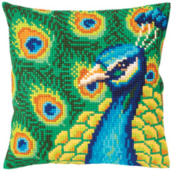 Kussen borduurpakket Proud peacock - Collection d'Art