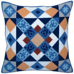 Cushion cross stitch kit Majolica - Collection d'Art