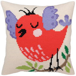 Cushion cross stitch kit Spring songs  - Collection d'Art