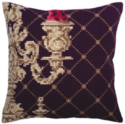 Cushion cross stitch kit Candlestick - Collection d'Art