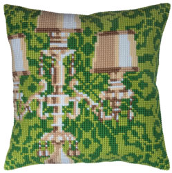 Cushion cross stitch kit Candelabra - Collection d'Art