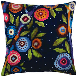Cushion cross stitch kit In blossom - Collection d'Art