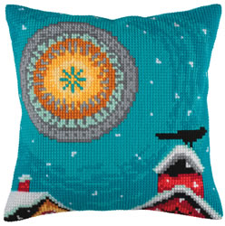 Cushion cross stitch kit Winter Sun - Collection d'Art