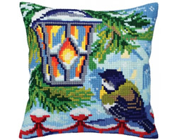 Cushion cross stitch kit Before Christmas - Collection d'Art