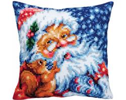 Cushion cross stitch kit Santa - Collection d'Art
