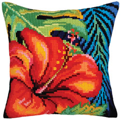 Kussenborduurpakket Hibiscus Flower - Collection d'Art