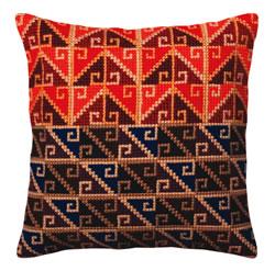 Cushion cross stitch kit Peruvian ornament - Collection d'Art