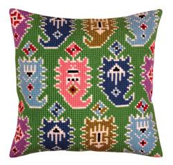Cushion cross stitch kit Paisley - Collection d'Art