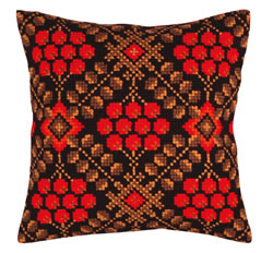 Cushion cross stitch kit Ashberry - Collection d'Art