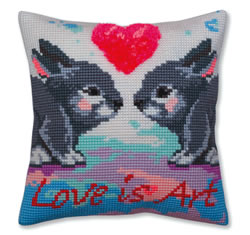 Cross stitch kit Love is Art - Collection d'Art