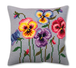 Cross stitch kit Pansies - Collection d'Art