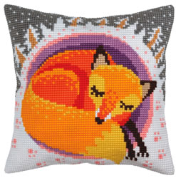 Cushion cross stitch kit Winter dreams - Collection d'Art
