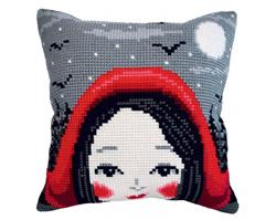 Cushion cross stitch kit Red Ridinghood - Collection d'Art