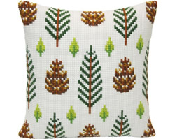 Cushion cross stitch kit Strobiles - Collection d'Art
