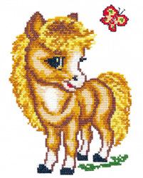 Borduurpakket Merry horse - Chudo Igla (Magic Needle)