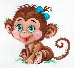 Cross stitch kit Charming monkey - Chudo Igla (Magic Needle)