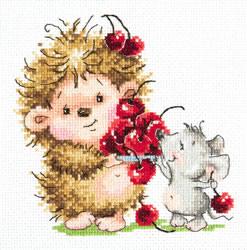 Cross stitch kit Hedgehog and mouse - Chudo Igla (Magic Needle)