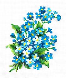 Cross stitch kit Forget-me-nots - Chudo Igla (Magic Needle)