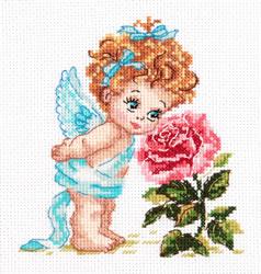 Cross stitch kit Angel of Happiness - Chudo Igla (Magic Needle)