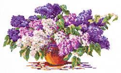 Cross stitch kit Lilac Bouquet - Chudo Igla (Magic Needle)