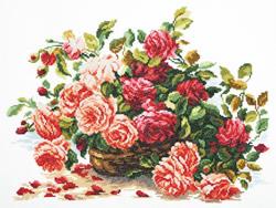 Borduurpakket Royal roses - Chudo Igla (Magic Needle)