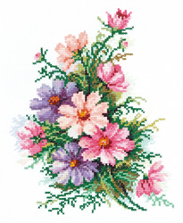 Cross stitch kit Cosmos Flowers - Chudo Igla (Magic Needle)