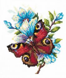 Borduurpakket Peacock butterfly - Chudo Igla (Magic Needle)