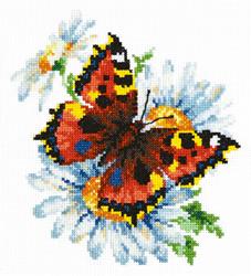 Borduurpakket Butterfly and daisies - Chudo Igla (Magic Needle)