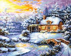 Cross stitch kit Winter's tale - Chudo Igla (Magic Needle)